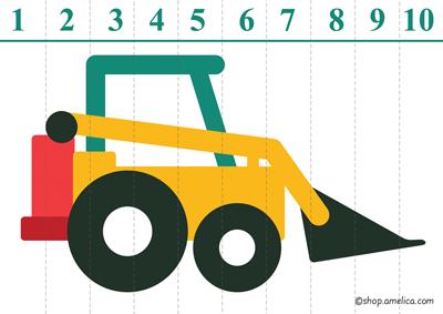 пазлы для детей, учимся считать, цифры от 1 до 10