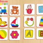 Игра мемори для детей (найди пару) «Мемори для детей — Игрушки» скачать и распечатать