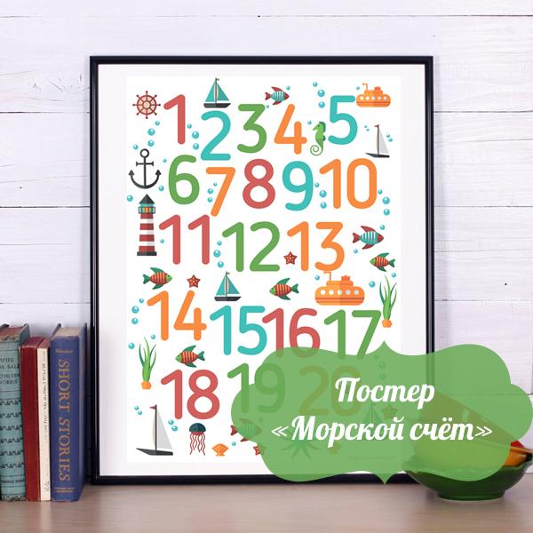 постер цифры, постер в детскую,