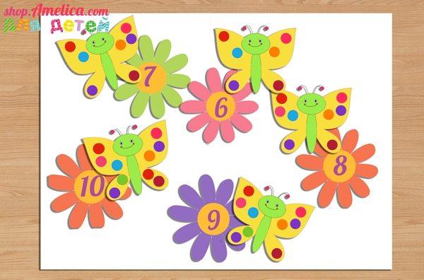 развивающая игра, учим цифры, аппликации для детей, игры с прищепками,