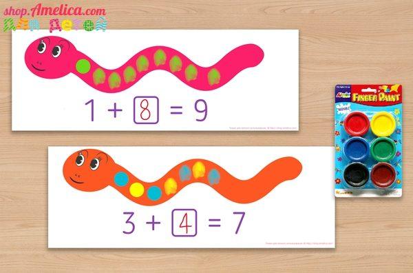 рисуем пальчиками, учимся считать, счет от 1 до 10,