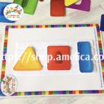 Развивающая игра — конструктор на липучках для малышей «Собери по образцу»