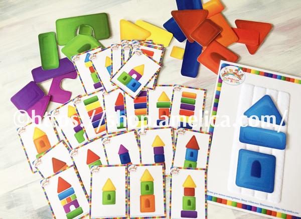 """Развивающая игра - конструктор на липучках для малышей """"Собери по образцу"""""""
