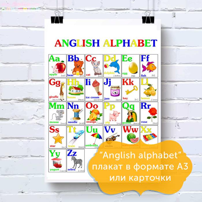 Карточки с картинками и буквами английского алфавита распечатать