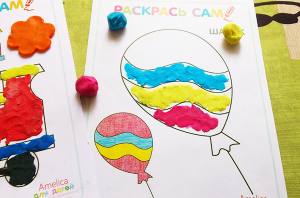 Раскраски для пластилинового рисования скачать бесплатно