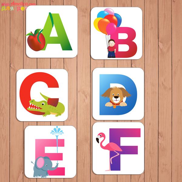 Флеш - карточки, English alphabet, английский язык