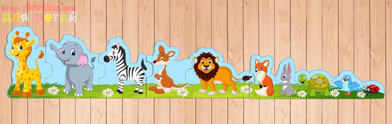 развивающие пазлы, изучаем животных, игры про животных