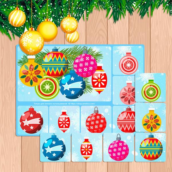 Детское новогоднее лото, развивающее лото про новый год, лото новогоднее