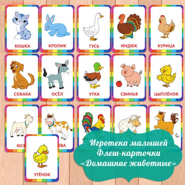 карточки домашние животные, карточки для малышей, картинки животных для детей