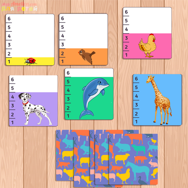 игра животные, учимся считать, игры на логику, развитие внимания