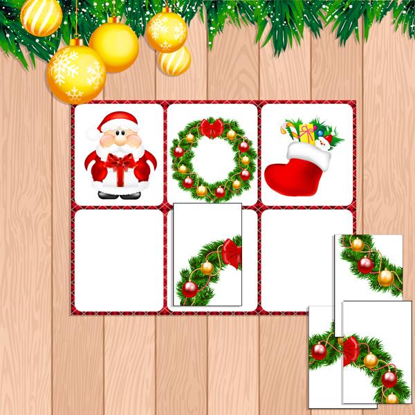 новогоднее лото, настольные игры распечатай и играй