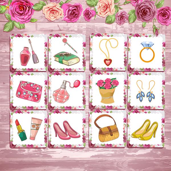 Мемори для девочек, игра мемори для детей, мемори на 8 марта, игры на 8 марта