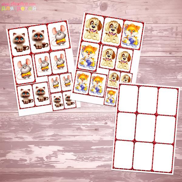Настольные игры скачать распечатать, развивающая игра Крестики - нолики