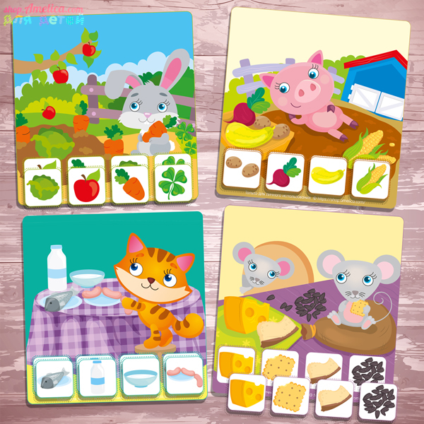 Дидактическая игра для малышей, развивающее лото для малышей