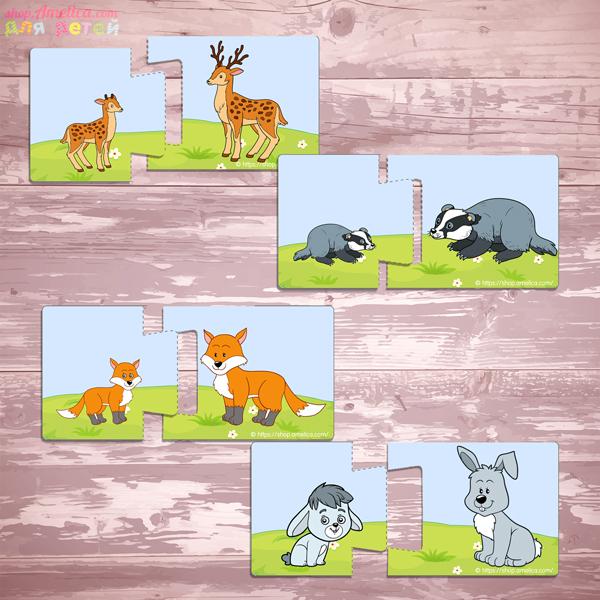 Дидактическое пособие для малышей, развивающая игра пазлы