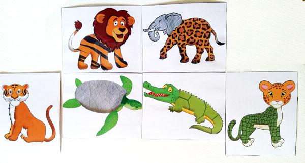 Дидактическая игра для детей, детская дидактическая игра, игра угадай чья шкурка