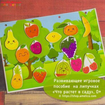 Игры на липучках, игры умные липучки, дидактическая игра что растет в саду, игра изучаем фрукты, дидактическое пособиедля детского сада