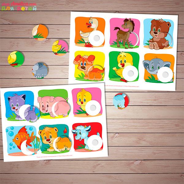 Игры умные липучки для детей, игры на липучках для детей, Мои первые игры, лото - головоломка, дидактическое пособиедля детского сада