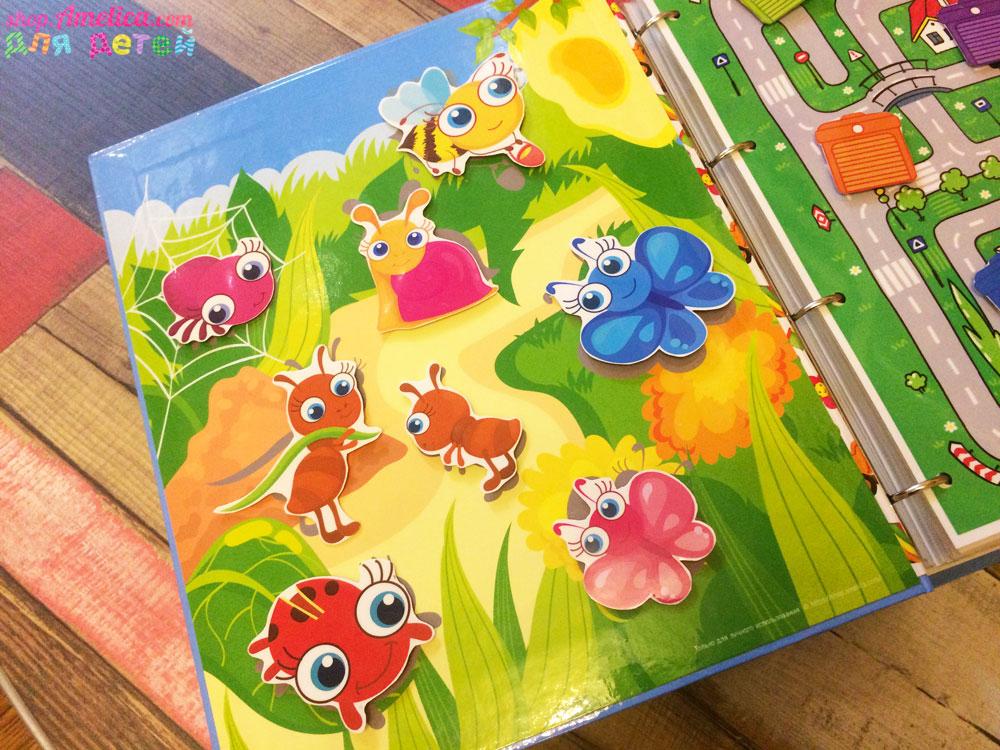 """Игры умные липучки для детей. Развивающее теневое лото """"Кто на полянке живет"""" скачать для печати"""