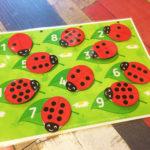 Игры умные липучки для детей. Дидактическая игра «Божьи коровки»