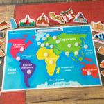 Игры умные липучки для детей. Развивающее игровое пособие «Карта Мира — Достопримечательности»