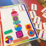 Игры умные липучки для детей. Развивающая игра «Собери пирамидку по образцу»