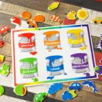 Игры умные липучки для детей. Развивающее лото — сортировка «Разложи по цвету».