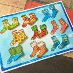 Игры умные липучки для детей. Дидактическая игра «Подбери носочку пару»
