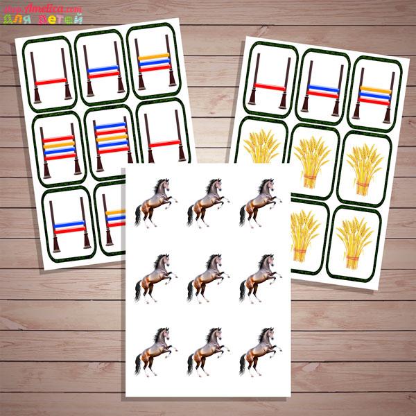 Настольные игры скачать для печати, математическая игра «Конные скачки»