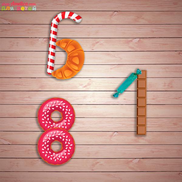 Настольные игры скачать для печати, развивающая игра «Сладкие буквы и цифры»