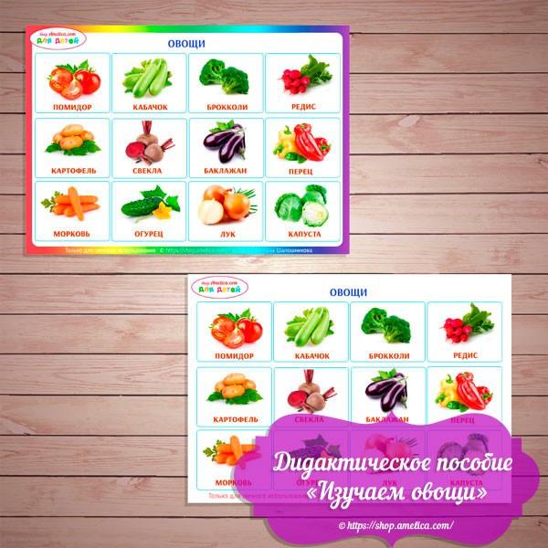 """Игры на липучках - шаблон скачать, дидактическое пособие для малышей """"Изучаем овощи"""""""