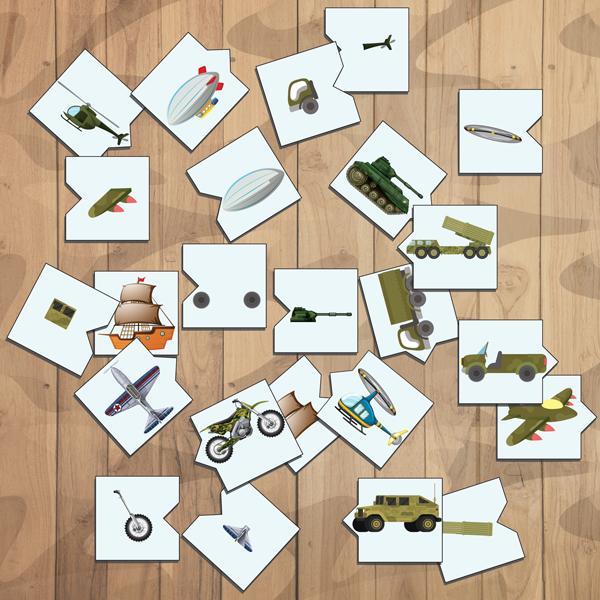 Дидактическая игра «Часть-целое. Военная техника» скачать для печати