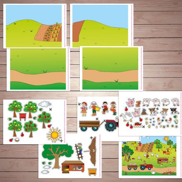 Дидактическая игра - аппликация «Ферма» бесплатно скачать для печати