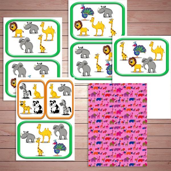 Настольные игры скачать для печати, игра на развитие внимания «Прятки с животными»