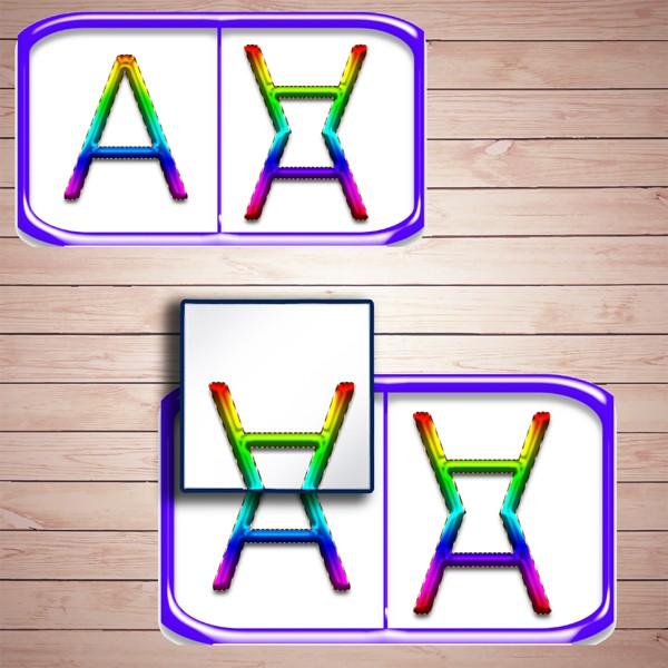 Развивающая игра «Играем с зеркальцем. Изучаем буквы и симметрию - 2» скачать для печатию - 2» скачать для печати