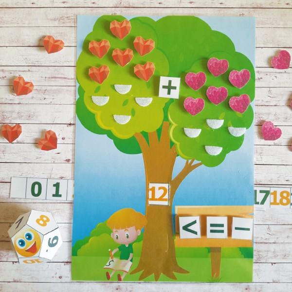 Дидактическая игра «Умное дерево» скачать для печати