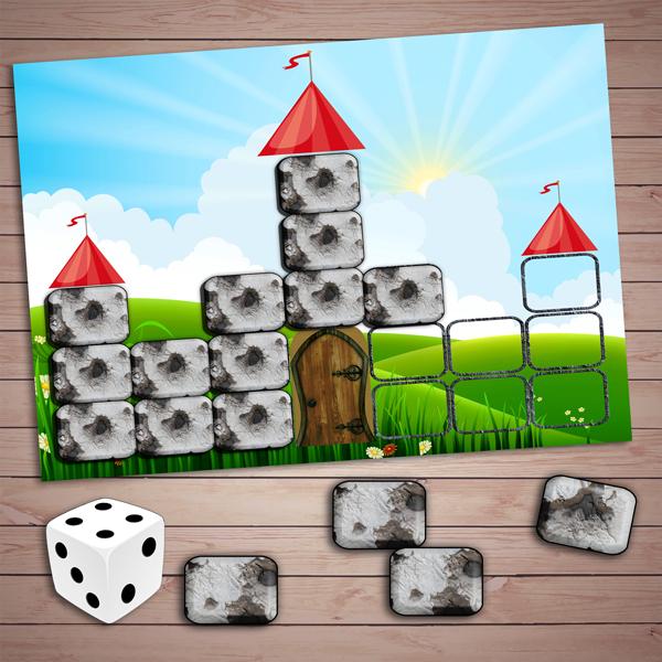 Математическая игра «Строим крепость» скачать для печати