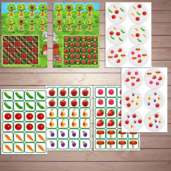 Игра на развитие логики «Лесное кафе» скачать для печати