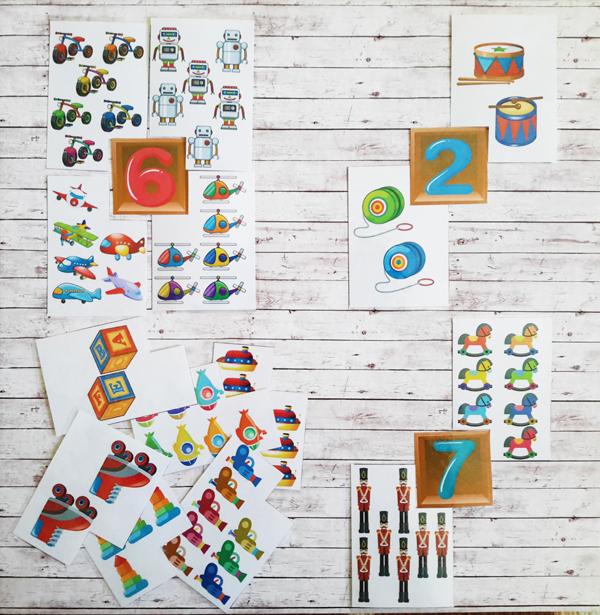 Дидактическая игра «Сосчитай игрушки» скачать бесплатно для печати