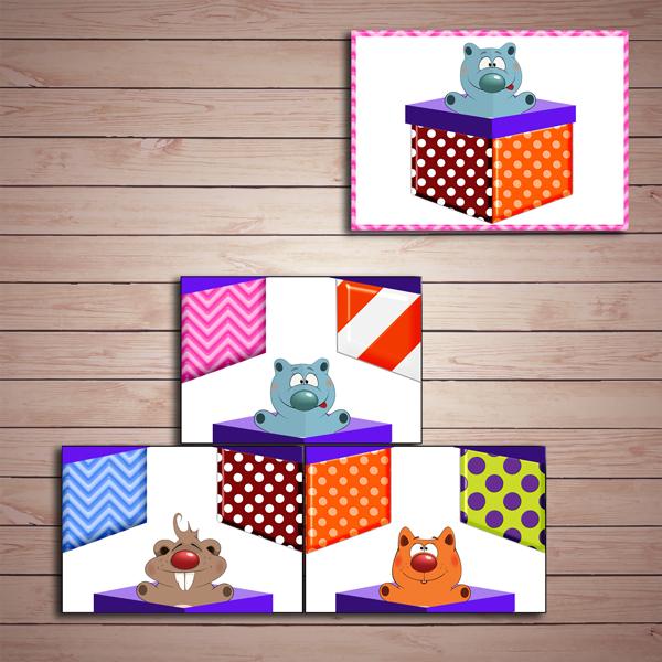 Развивающая игра «Коробки с подарками» скачать для печати