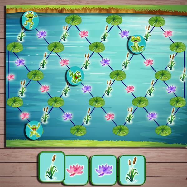 Развивающая игра «Лягушки-посКВАкушки» скачать для печати