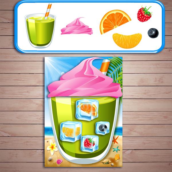 """Развивающая игра """"Готовим напиток со льдом"""" скачать для печати"""