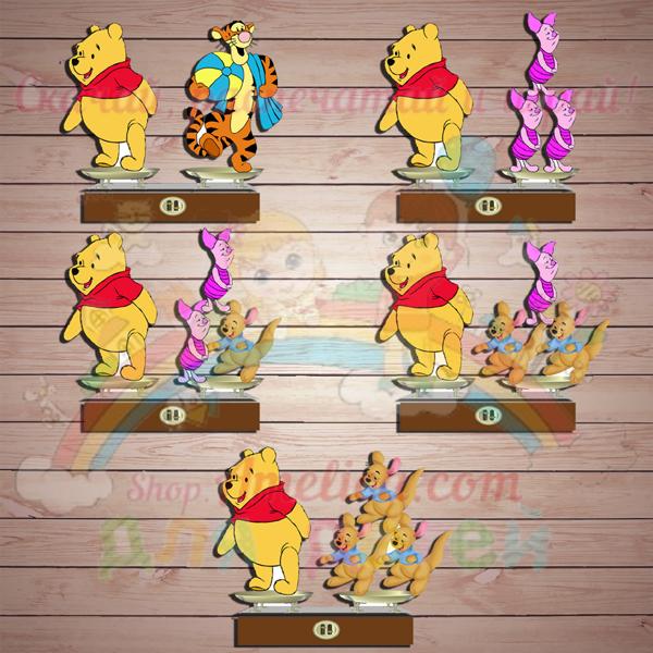 Настольные игры распечатай и играй! Развивающая игра «Винни-Пух и все-все-все на весах» скачать для печати