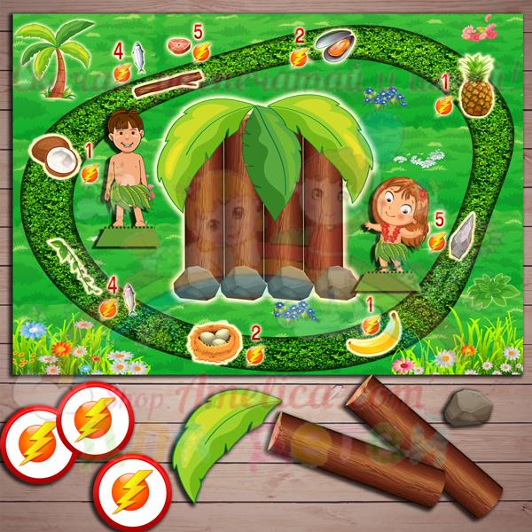 Настольные игры распечатай и играй! Развивающая игра «Островитянин» скачать для печати