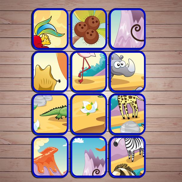 Настольные игры распечатай и играй! Развивающая игра «Саванна» скачать для печати