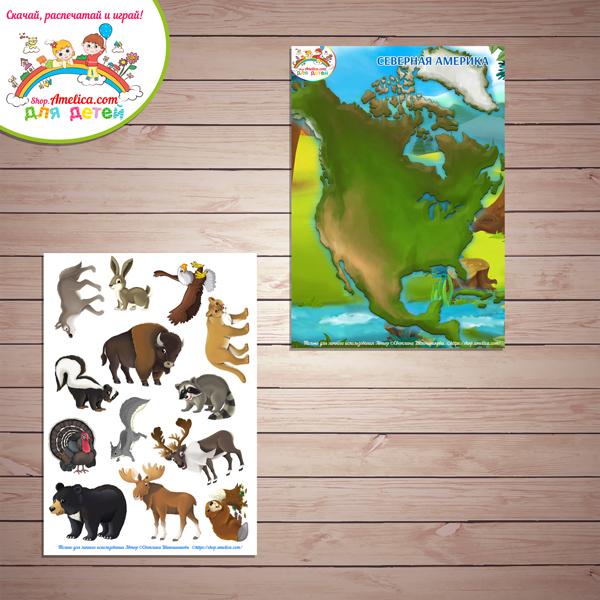 Игры на липучках для детей скачать. Дидактическая игра «Животный мир континентов - СЕВЕРНАЯ АМЕРИКА» распечатать