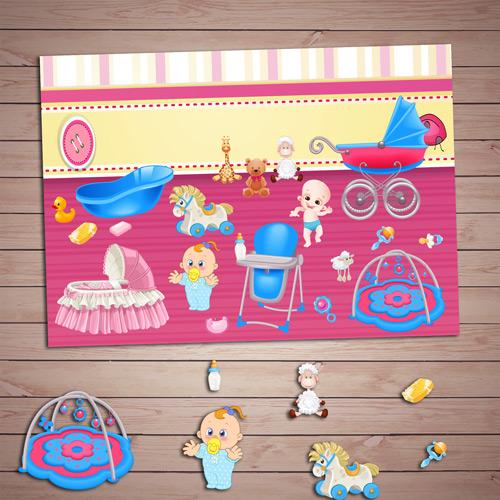Развивающая игра «Малыши и их комната» скачать для печати