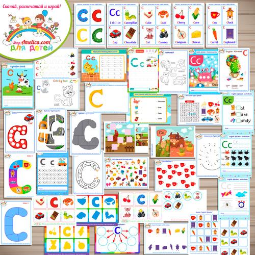Тематический комплект «English Alphabet letter C»